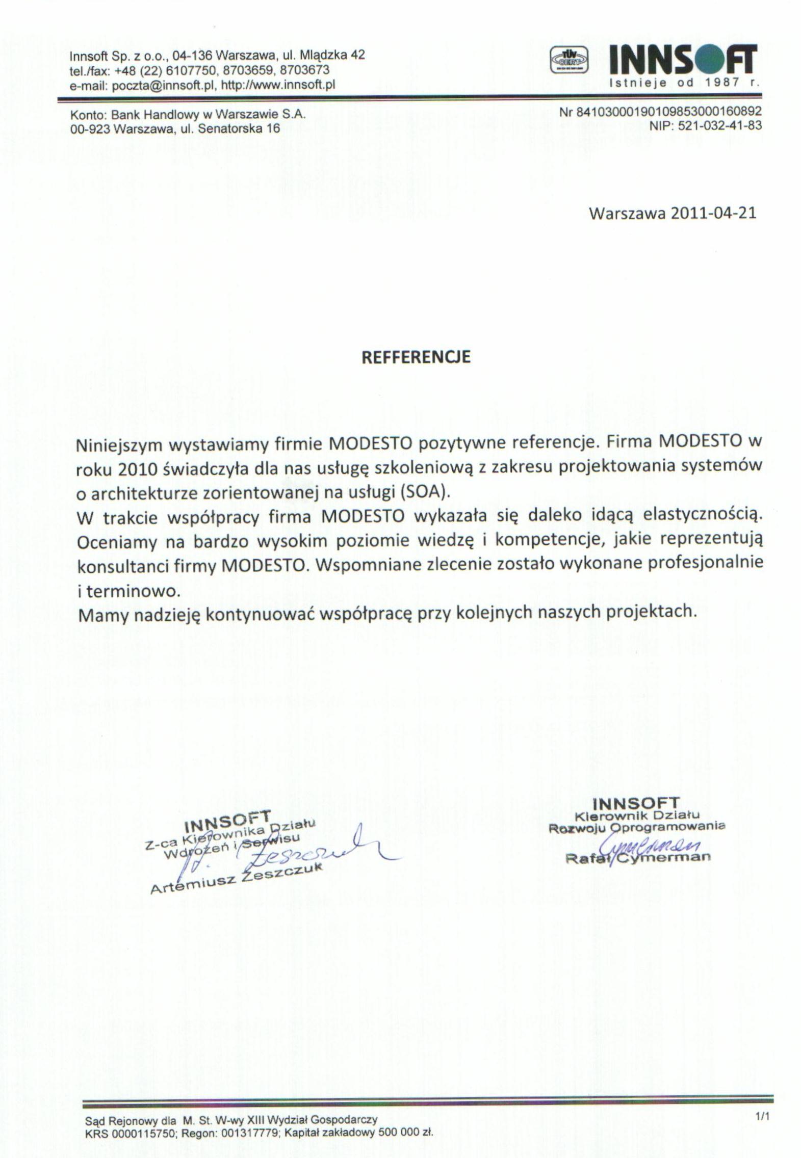 Intertrading systems technology mazowsze sp. z o.o